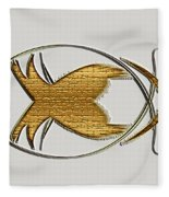 Christian Fish Fleece Blanket