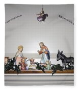Christmas Blessings Creche Fleece Blanket