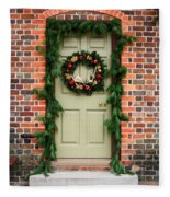 Christmas Door Fleece Blanket