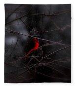Christmas Eve - Northern Cardinal Fleece Blanket
