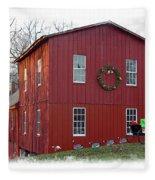 Christmas Eve At Williston Mill Fleece Blanket