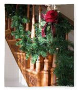 Christmas Garland Fleece Blanket