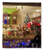 Christmas In Rochester Fleece Blanket