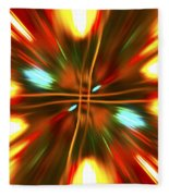 Christmas Light Abstract Fleece Blanket
