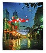 Lights At 3 Georges In Mobile Al Fleece Blanket