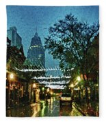 Christmas Lights Down Dauphin Street Fleece Blanket