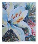 Christmas Lily Fleece Blanket