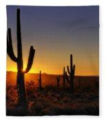 Christmas Morning In Arizona  Fleece Blanket