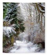 Christmas On The Chase Fleece Blanket