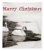 Christmas Swans 2367 Fleece Blanket