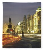 Christmas Traffic On Oconnell Street Fleece Blanket