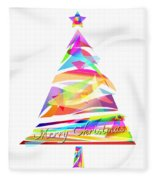 Christmas Tree Design Fleece Blanket