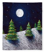 Christmas Trees II Fleece Blanket