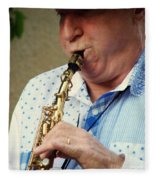 Christopher Mason Alto Sax Player Fleece Blanket