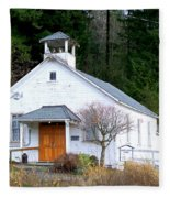 Christs Church At Elbe Washington Fleece Blanket