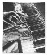 Chrome Piano Man Fleece Blanket