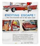 Chrysler Ad, 1959 Fleece Blanket