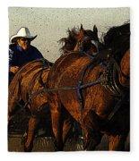 Rodeo Chuckwagon Racer Fleece Blanket