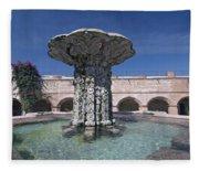 Church And Convent Garden Fleece Blanket