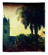 Church At Fort Moultrie Near Charleston Sc Fleece Blanket