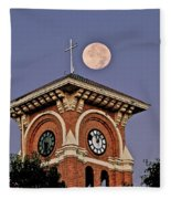 Church Bell Tower Fleece Blanket