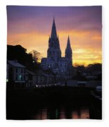 Church In A Town, Ireland Fleece Blanket