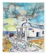 Church In Cape Gkreko In Cyprus Fleece Blanket