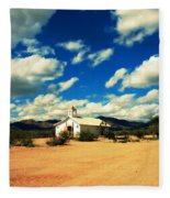 Church In Old Tuscon Arizona Fleece Blanket