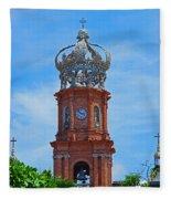 Church In Puerto Vallarta Fleece Blanket
