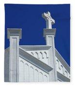 Church Key West Florida Fleece Blanket