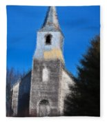 Church Of Days Gone By Fleece Blanket