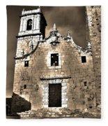 Church Of The Virgen De La Ermitana - Peniscola  Fleece Blanket