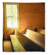 Church Pews - Light Through Window Fleece Blanket