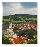 Church Spire In The Old Town Cesky Fleece Blanket