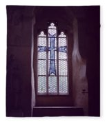 Church Stained Glass Window 2 Fleece Blanket