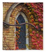 Church Window Autumn Fleece Blanket