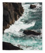 Churning Ocean Fleece Blanket