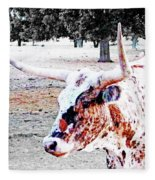 Cibolo Ranch Steer Fleece Blanket