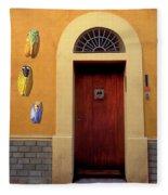 Cicada Door Arles France Fleece Blanket