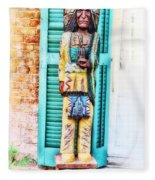 Cigar Store Indian - New Orleans Fleece Blanket