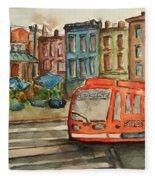 Cincinnati Streetcar Fleece Blanket