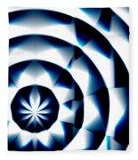 Circle Flower - Macro 1 Fleece Blanket