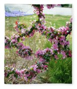 Circle Of Blossoms Fleece Blanket
