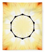 Circle Of Light Fleece Blanket