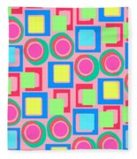 Circles And Squares Fleece Blanket