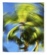 Circular Palm Blur Fleece Blanket