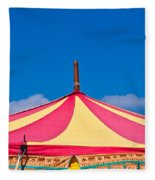 Circus Tent Top  Fleece Blanket