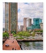 City - Baltimore Md - Harbor Place - Baltimore World Trade Center  Fleece Blanket