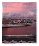City At Dusk Fleece Blanket