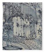 City Doodle Fleece Blanket